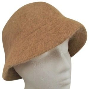 David and Young Angora MOD Hat, Khaki Classic NEW